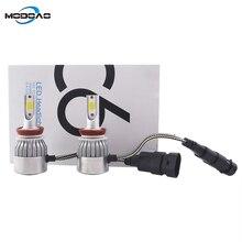 Modoao 2Pcs 6500K LED H7 H11 H9 HB4 H1 H3 HB3 Auto S2 Car Headlight Bulbs 72W 8000LM Styling led automotivo