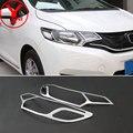 YCSUNZ ABS крышка головного света для Honda fit jazz 2015 2016 ABS Хромированная фара для honda fit 2015 2016 2017 Аксессуары для автомобилей