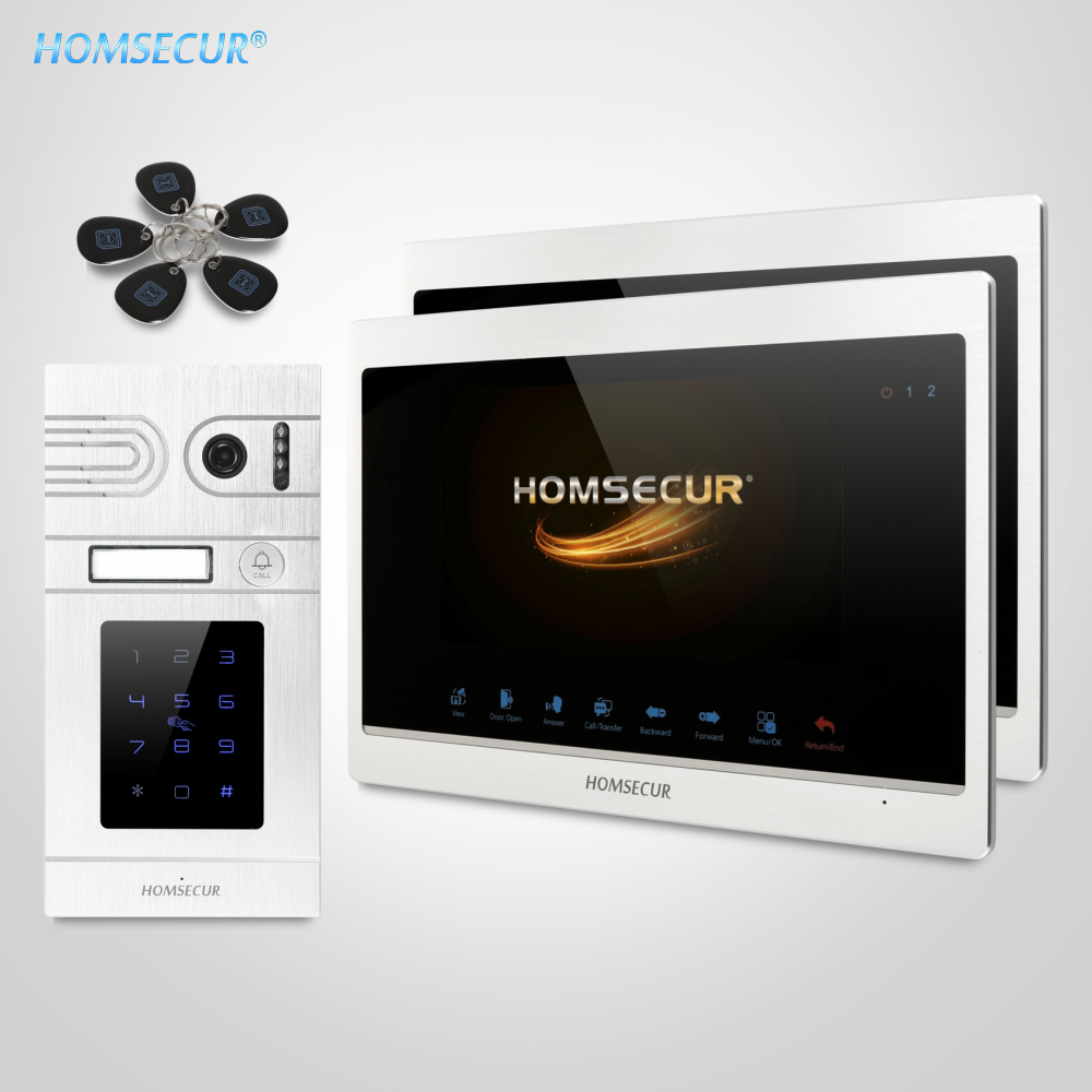 HOMSECUR 7 Video Door Entry Security Intercom Card Access for Home Security BC071HD-S + BM702HD-S HOMSECUR 7 Video Door Entry Security Intercom Card Access for Home Security BC071HD-S + BM702HD-S