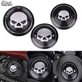 Black Motorcycle Skull Engine Side Cover Timing Cover Derby Air Cleaner Cover Timer Cover For Harley Street XG500 750 2015-2017