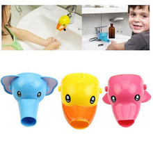 1 pcs Happy Fun Animals Faucet Extender Baby Tubs Kids Hand Washing Bathroom Sink Gift Fashion and Convenient(China)