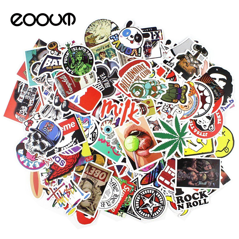 eoout-100pcs-mixed-funny-cartoon-stickers-for-laptop-luggage-car-skateboard-phone-home-decor-graffiti-toy-waterproof-stickers