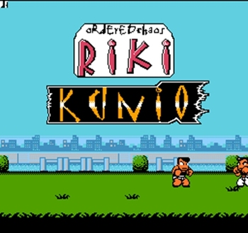 Riki Kunio Region Free 8 Bit Game Card For 72 Pin Video Game Player image