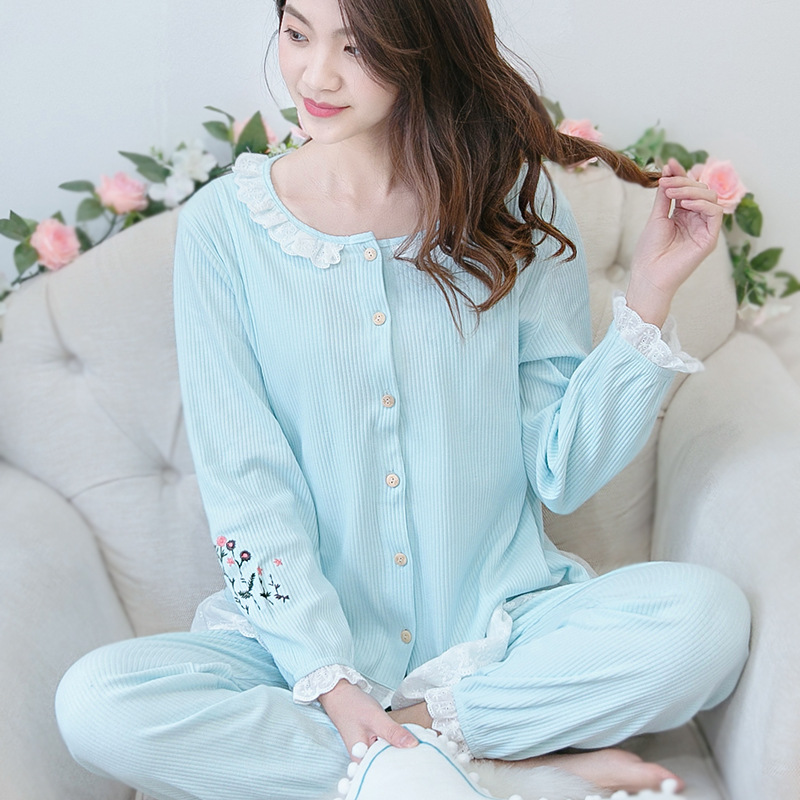 Breastfeeding Nursing Pajamas Cotton Postpartum Women Lactation Pajamas Home Leisure Maternity Nightwear for Pregnant Women sally nice postpartum body seamless pregnant siamese girly corset leotard postpartum maternity waist trainer corset