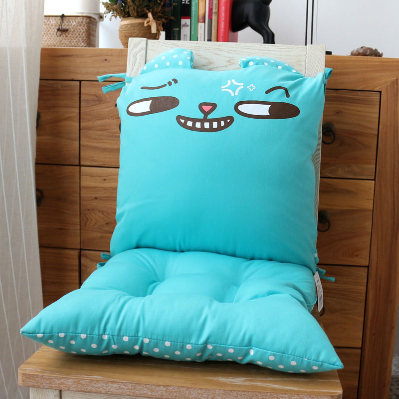 Cartoon Foldable Soft fice Kitchen Chair Home Sofa Cushion Chair Seat Cushion Back Cushion Pads Chair