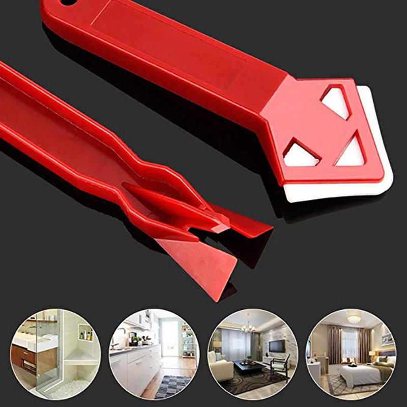 Hot Sale 2 Pieces / set Mini Handmade Tools Scraper Utility Practical Floor Cleaner Tile Cleaner Surface Glue Residual Shovel