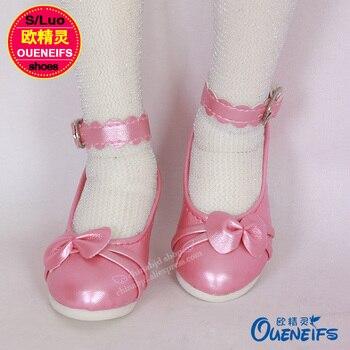 Buty dla BJD lalki łuk skórzane buty zabawki mała lalka buty 1/3 dla IP SD BJD lalki WX3-25 długość 8 cm lalki 3 kolory akcesoria