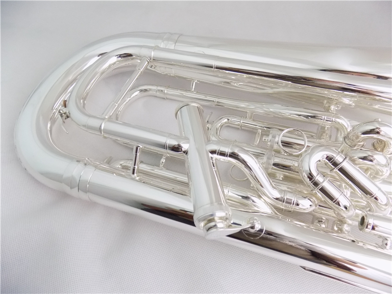 Bb euphonium 3+ 1 поршневая компенсирующая система посеребренный корпус ABS и мундштук, музыкальные инструменты профессиональные