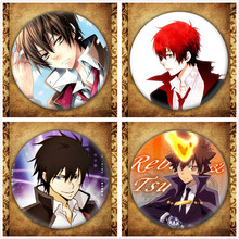 Japanese Anime Hitman Reborn Display Badge Fashion Cartoon Figure Hibari Kyoya Tsunayoshi Brooches Pin Jewelry Accessories стоимость