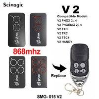 V2 garage door remote control 433.92mhz 868mhz V2 PHOX2 868  PHOX4 868 garage remote command transmitter gate control Door Remote Control     -