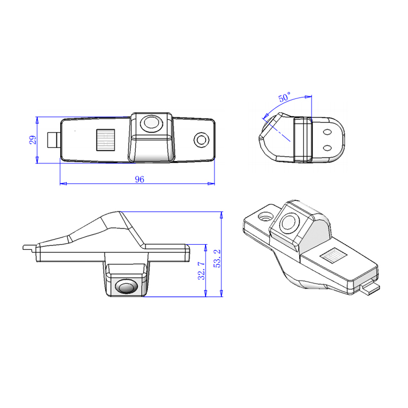 Deftig 96*29*53.2mm Voor Toyota Highlander Camera Parkeer Reverse Backup Hd Ccd Camera Welkom Klik Order Fabriek Snelle Verzending Goede Smaak