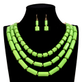 4 color African beads Jewelry Set 2016 New fashion bridal Wedding accessories statement choker Necklace / earrings for women
