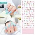 KB171 2017 Nueva Decoración de Uñas Nail Art Stickers Tips Wraps Belleza Maquillaje Harajuku Elemento Hello Kitty Etiqueta de Transferencia de Agua