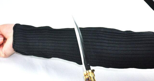 Черный защитный утолщенной 5 уровня защиты Безопасности самообороны анти-вырезать запястье браслет манжеты провода анти-нож вырезать повязки