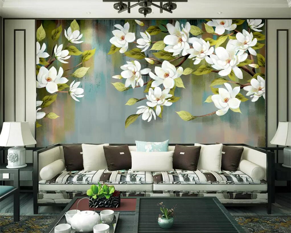 Beibehang Custom Wallpaper American Retro Flower And Bird Abstract Background Wall Living Room Bedroom Background 3d Wallpaper