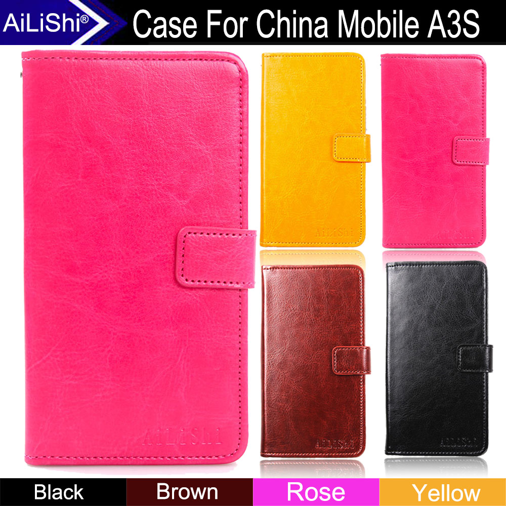 AiLiShi Factory Direct! Case For China Mobile A3S Luxury Flip Fashion PU  Leather Case Cover Phone Bag Wallet Card Slot +Tracking