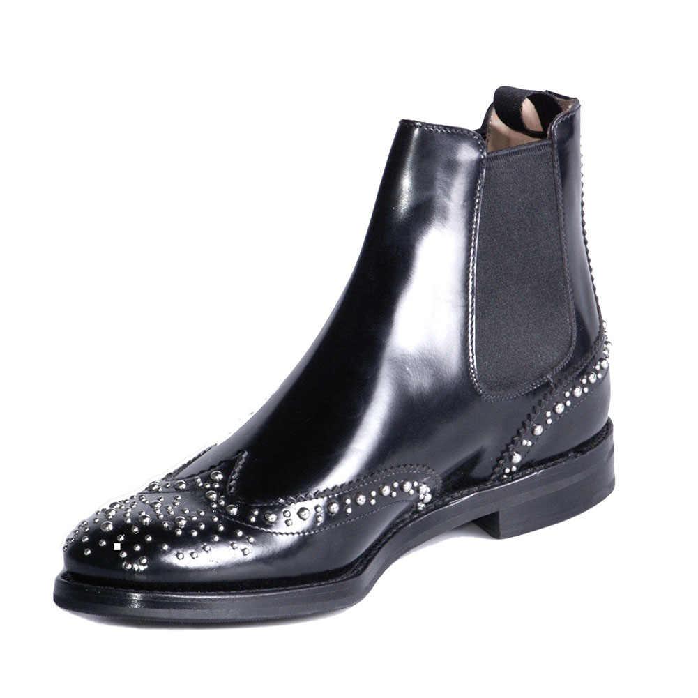 Vrouwen 2019 Luxe Merk Big Size 45 Klinknagels lederen Enkellaars Vrouwen Schoenen INS Chelsea laarzen vrouwelijke schoenen vrouw