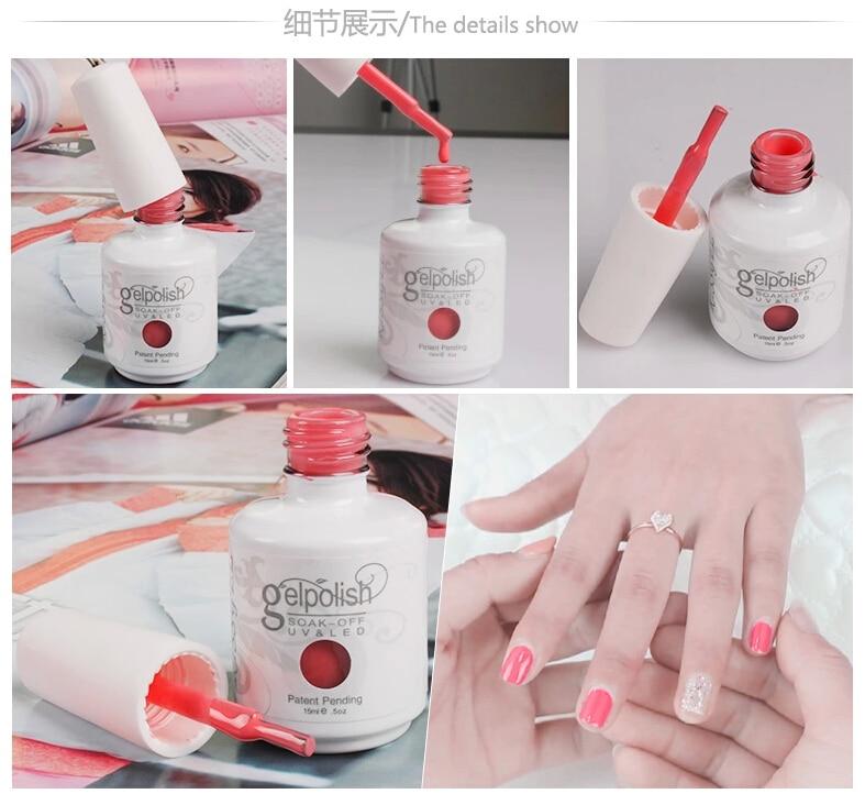 La venta más caliente, esmalte de gel uv de botella blanca, nuevo - Arte de uñas - foto 3