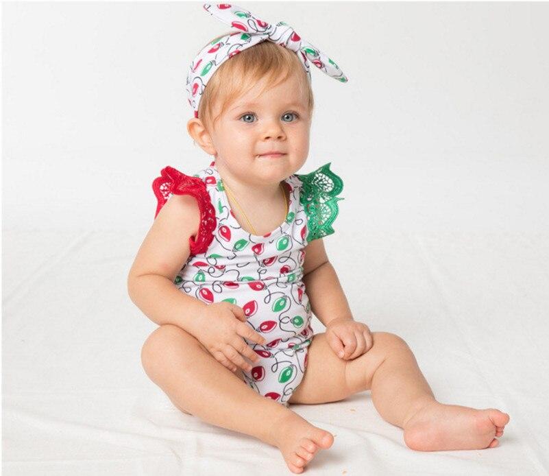 ツ)  ¯New Baby Рождество Партия Одежды Наборы Новорожденных кружева ... 0c8732299718b