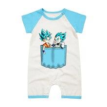 Для новорожденных; Детские хлопковые комбинезоны Dragon Ball одежда сын Goku vegeta с персонажами из мультфильмов для маленьких мальчиков с коротким рукавом для младенцев костюм для маленьких детей; комбинезоны