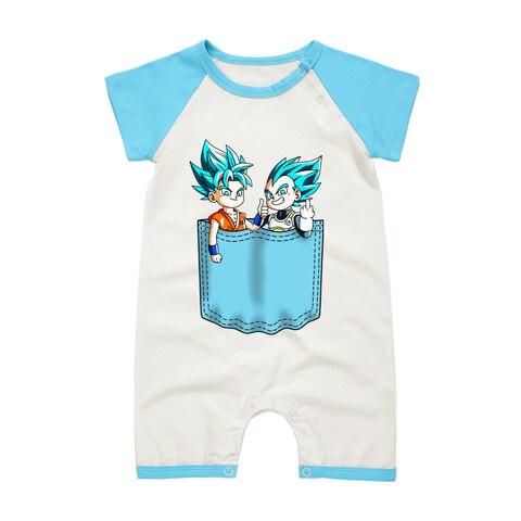 macacao de algodao do bebe recem nascido roupas de dragon ball son goku vegeta boy
