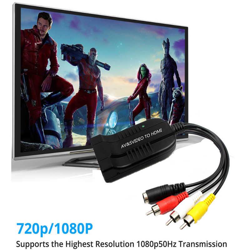 3RCA AV مركب الذكور M/F إلى HDMI الإناث تحويل التناظرية إلى الرقمية محول ل 1080p HDTV AV إلى HDMI