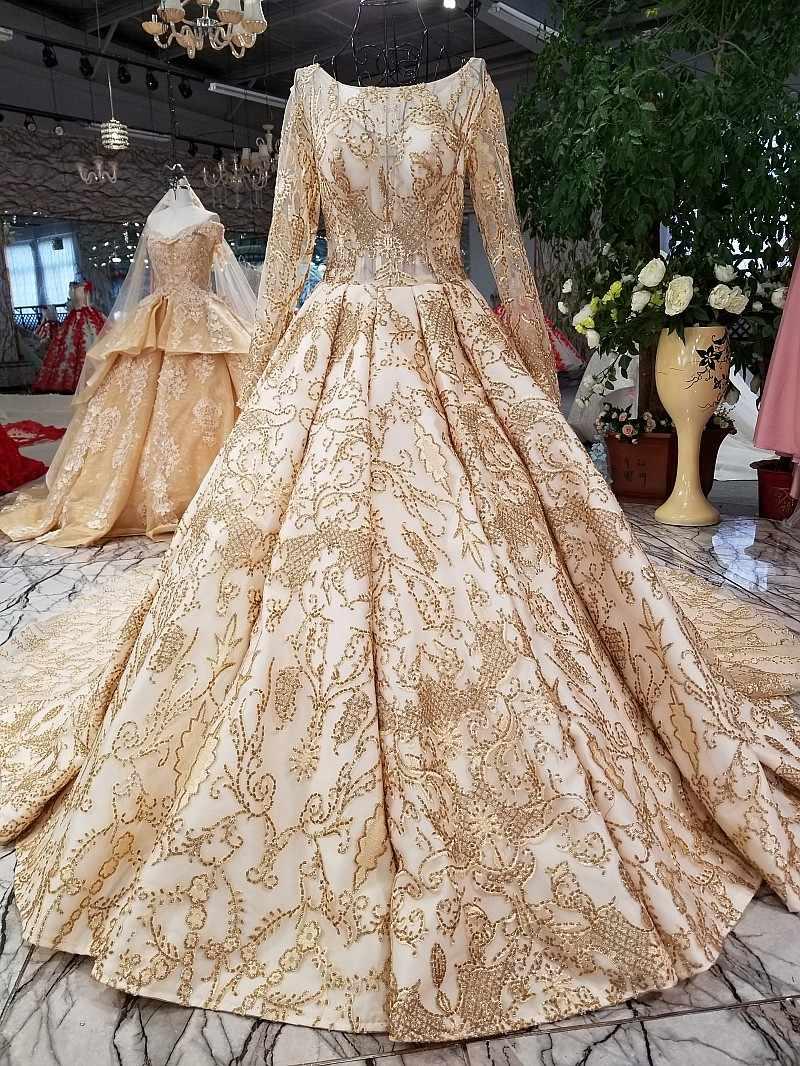 Винтажные Свадебные платья золотистое розовое кружевное платье с длинным шлейфом, длина до пола, на шнуровке, бальное платье vestidos De Novia, макси платье