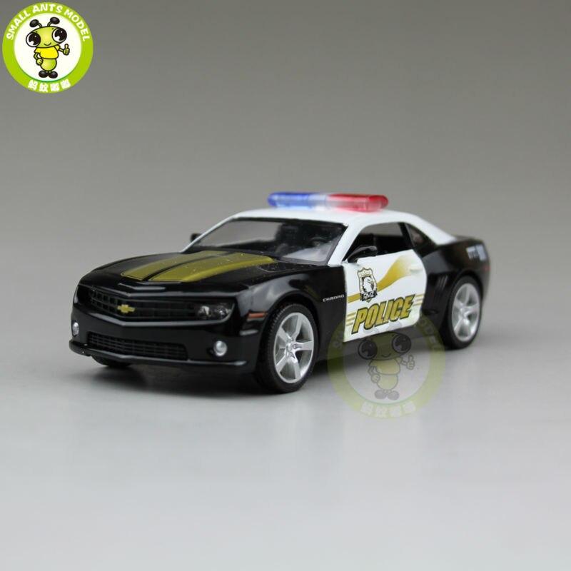 5 Inch RMZ City Chevrolet CAMARO Diecast Model Police Car Toys For Kids Children Boy Girl Gift Collection Hobby Pull Back