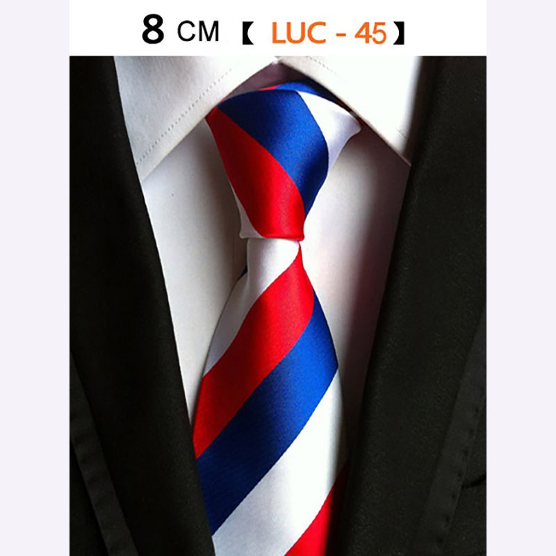 18 Style Striped Neck Ties For Men's Wide Neckties Wedding Suits Silk Business Corbatas Formal Party Tie P2