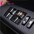 7Pcs/Set Car Windows Lift Switch Sticker Door Button Interior Trim Cover Accessories for Toyota Corolla RAV4 2014 2015