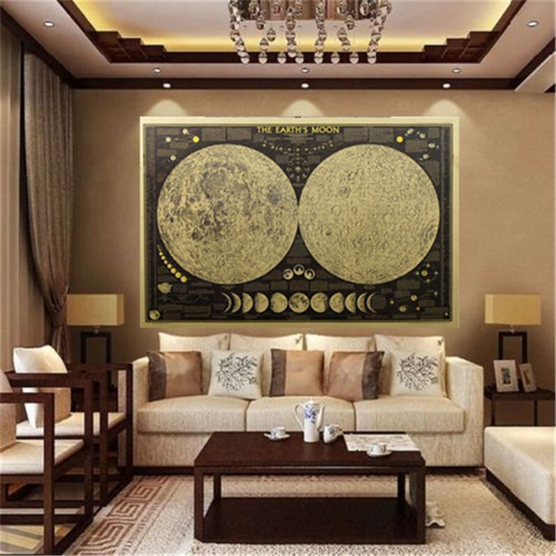 2017 Hot Sale 1pcs World Map Wall Sticker Retro Large Vintage Paper Drawing Home Decor
