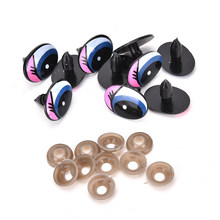 10pcs Cartoon Eyes Safety Eyes for toys Doll shoes Handmade Plastic Doll Eye Children DIY Dolls Stuffed Animal Crafts Puppet(China)