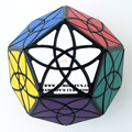 Mf8 Bauhinia Dodecahedron Puzzle Cubo mágico Cubo negro ( Stickered ) aprendizaje y juguetes educativos Cubo juguetes