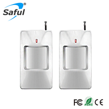 2pcs/lot 315/433Mhz wireless pir infrared motion detector For Wireless GSM/PSTN Auto Dial Home Security for gsm alarm system