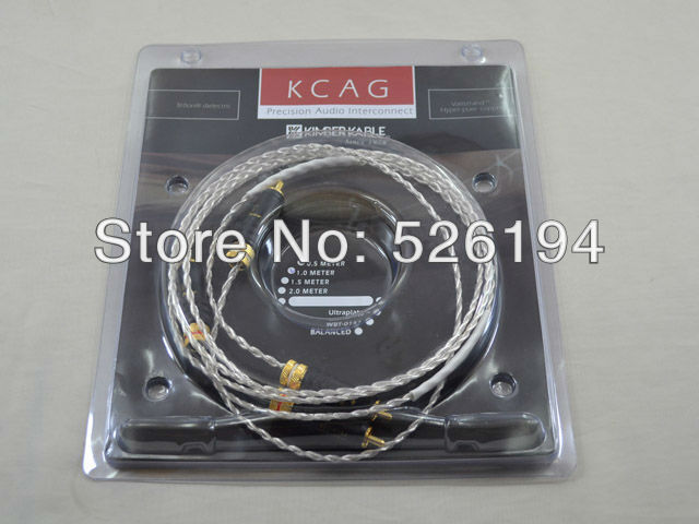 цена на Free shipping pair KCAG audio Interconnects cable with WBT-0144 RCA plug plug connector
