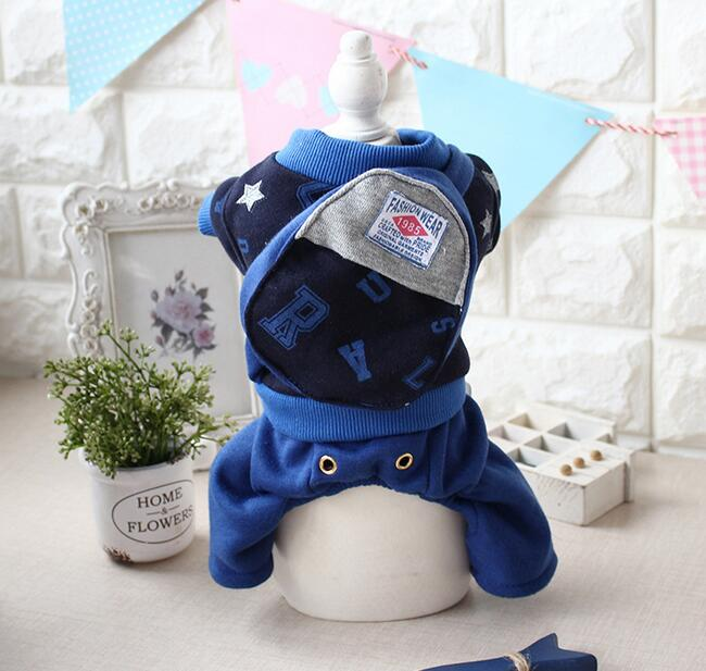 1pcs dogs cats autumn winter jumpsuits pet dog cat cool fashion tracksuits with bag puppy rompers pet dog cat coats clothes