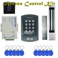 DIYSECUR 125KHz RFID Password Keypad Access Control System Security Kit + 280kg Magnetic Lock + Exit Switch V2000 C