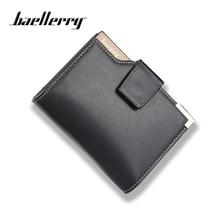 Baellerry Luxury High Quality Male Clutch Men Short Black Wallets PU Leather Photo Card Holder Coin Pocket Purse Men's Money Bag