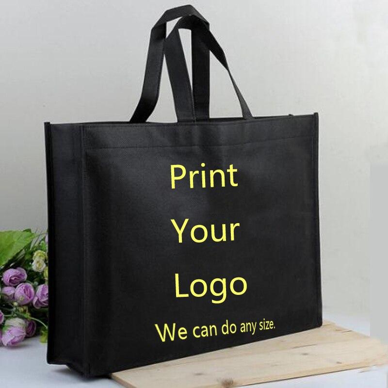 ¡Mini al por mayor 300 piezas! 50% 60% de descuento en gastos de envío, bolsa de compras personalizada no tejida, imprimir su bolsa de compra de logotipo, hacer el tamaño de color-in Bolsas para compras from Maletas y bolsas    1