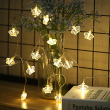 2M 6M 10M Crown Shape LED String Lights AA Battery Powered Bedroom Dec