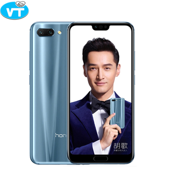 New arrival Honor 10 5.84 inch 2280x1080p Honor10 screen Mobile Phone Octa Core face ID NFC android 8.1 3400mAh battery 3