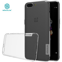 Nillkin Nature Transparent Clear Soft Silicon TPU Protector Case Cover For One Plus 5 Case Cover
