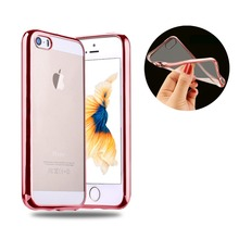 500X Untra Transparent Slim soft Crystal TPU Back Case Cover for iPhone 5S 5 SE cases cover rose gold border case