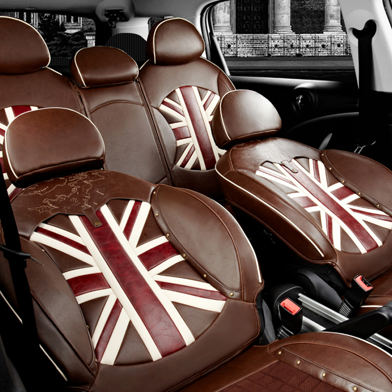 Classic Design Leather Car Seat Covers For Mini Cooper S Clubman R55