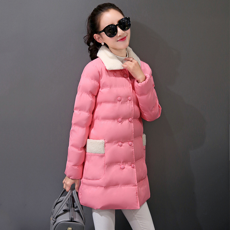 2017 New Fashion Winter Clothes Long Section Large Size Down Padded Female Women Slim Ladies Warm Jackets Coats Gift 2014 winter new top 90 european stations velvet waist slim flouncing long section of a large swing down
