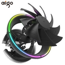 Aigo cpu cooler led 120mm cpu ventilador de refrigeração pwm silencioso cpu cooler lga/115x/775/am3/am4 3pin pc cpu radiador de refrigeração amd dissipador de calor(China)