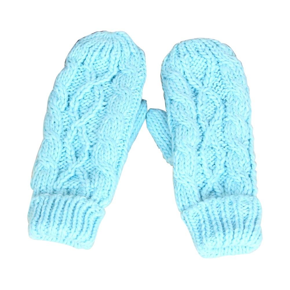 2019 Fashion Women Girls Knitted Wool Hand Wrist Warmer Fingerless Winter Gloves Autumn Solid Color Gloves Drop Shipping