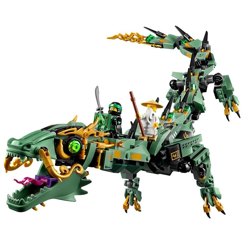 574 ชิ้น 2018 Mecha Dragon Compatibie Legoings Building Blocks ชุดของเล่นเพื่อการศึกษา DIY เด็กวันเกิดคริสต์มาสของขวัญ-ใน ชุดการสร้างโมเดล จาก ของเล่นและงานอดิเรก บน   3