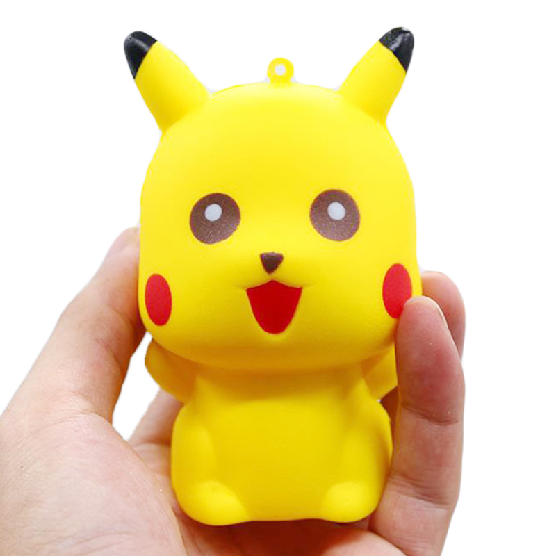 Jumbo Pikachu Squishy Cute Cartoon Doll Phone Straps Squeeze Toys Slow Rising Bread Scented Stress Relief Fun For Kid Gift Toy