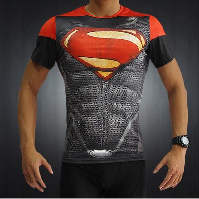 Batman VS Superman Fitness Slim Fit Compression 3D T-shirts